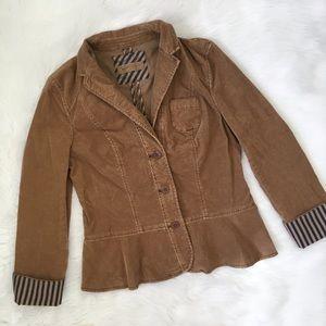 Anthropologie Pilcro Tan Corduroy Jacket